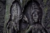 Antigua escultura en piedra de Angkor Wat — Stock Photo