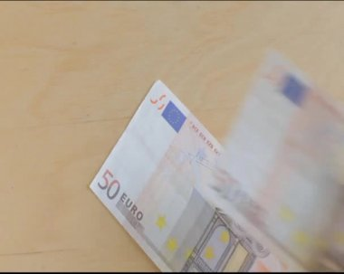 Billetes de euro — Stock Video