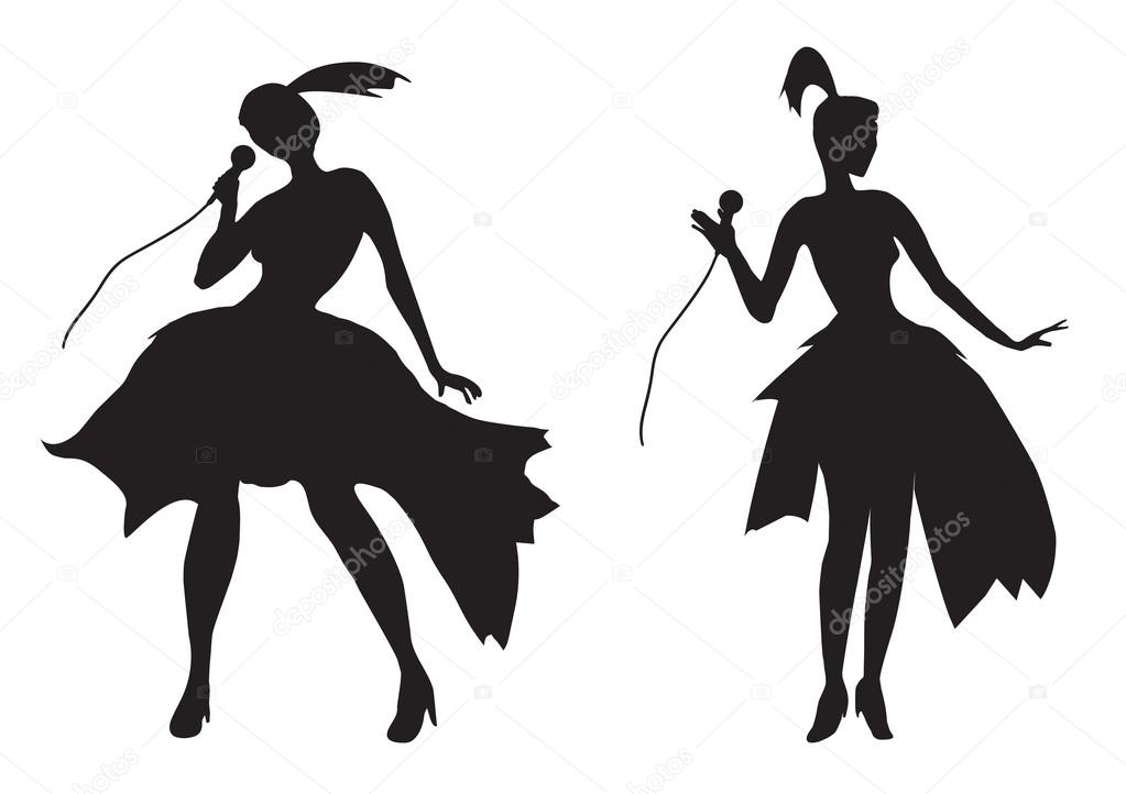 Silhouette of a girl s...