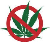 Stop smoking marijuana — Stock Vector