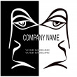 A human face for the company logo — Stock Vector