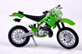 Green Dirtbike. — Stock Photo