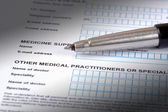 Medical Questionnaire. — Stock Photo