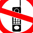 No cell phone sign - Stock Photo