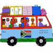Bus south africa — Stock Photo #25215503