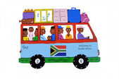 Bus south africa — Stock Photo