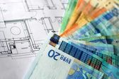 Money and plan. — Stock Photo