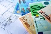 Money, Euros. — Stock Photo