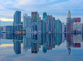 Building on Mega Floods Reflection — Stock Photo