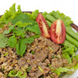 Hot Meat Dishes Set 13/16 - Thai Spicy minced meat salad - Stock Photo