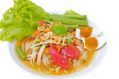 Hot Meat Dishes Set 12/16 - Thai spicy salad — Stock Photo
