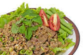 Hot Meat Dishes Set 13/16 - Thai Spicy minced meat salad — Stock Photo