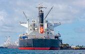 Vessel Cargo with crane — Stock Photo
