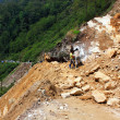 Stock Photo: SIKKIM, INDI- APRIL 17: Stuck POVs because of landslide