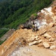 SIKKIM, INDIA - APRIL 17: Stuck POVs because of landslide — Stock Photo