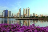 City in the garden in Thailand — Stock Photo