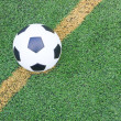 Soccer football field stadium grass line ball background texture — Stock Photo #13175458