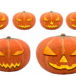 Halloween pumpkin set — Stock Photo
