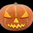 Halloween pumpkin Jack O'Lantern isolated on black — Stock Photo