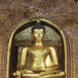 Stock Photo: Golden BuddhImage at Wat PrSing Temple, Chiang Mai, Thailand