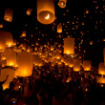Yi Peng,Firework Festival in Chiangmai Thailand — Stock Photo