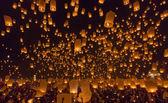 Yi Peng,Firework Festival in Chiangmai Thailand — ストック写真