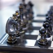 Chess pieces on the board  — Foto Stock