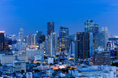 City town at night in Bangkok, Thailand — Stock Photo