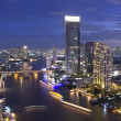 View of Chao PrayRiver, Bangkok City on high building, Thail — Stock Photo #30035935