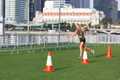 SINGAPORE - MARCH 1: Runners at Urbanathlon 2014 running with Me — Photo