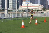 SINGAPORE - MARCH 1: Runners at Urbanathlon 2014 running with Me — Stock fotografie