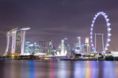 Singapore city skyline at night — ストック写真