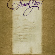 """Thank you"" handwritten calligraphy over old vintage paper background — Stock Photo #26415059"
