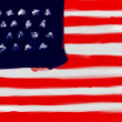Royalty-Free Stock Photo: United States of America national hand painted flag