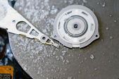 Hard disk drive with frost — Stock Photo