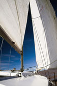 View from a sailboat — Stock Photo