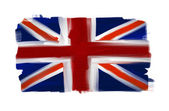 Great Britain hand painted national flag isolated on white — Stock Photo