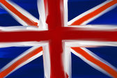 Great Britain hand painted national flag — Stock Photo