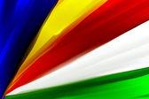 Seychely národní ručně malované vlajky — Stock fotografie