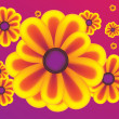 Royalty-Free Stock Vector Image: Vector yellow flowers on purple background