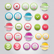 A set of vector round buttons, badges and banners — Stock Vector #26487467