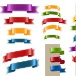 Vector satin ribbon tags collection — Stock Vector #26489425