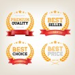 "Four vector vintage badges collection ""Best choice"", ""Premium quality"", ""Bestseller', ""Best price"" — Stock Vector"