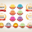 Vector round badges collection — Stock Vector