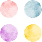 Vector watercolor stains — Stock Vector