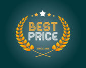 "Vintage vector round badge ""Best price"" — Stockvector"