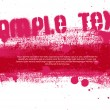 Red vector hand painted grunge banner - Stock Vector