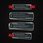Een set van blauwe vector vintage kartonnen militaire stijl badges — Stockvector