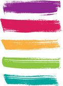 Rainbow vector brush strokes collection — Stock Vector