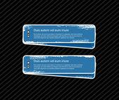 Grungy vector blue badges — Stock Vector